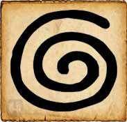 Espiral - Símbolos celtas - Para los celtas, la espiral no tiene ni principio ni fin sino que representa la vida eterna, como el sol que nace cada mañana, muere cada noche y renace a la mañana siguiente...