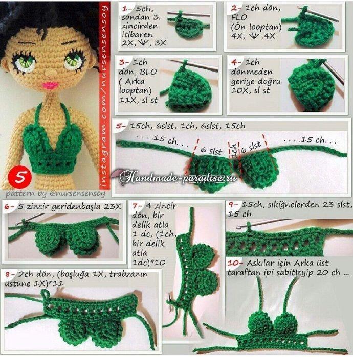 Амигуруми. Куколка Мулатка крючком (6)