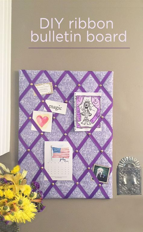 DIY ribbon bulletin board - an easy project for your home or office