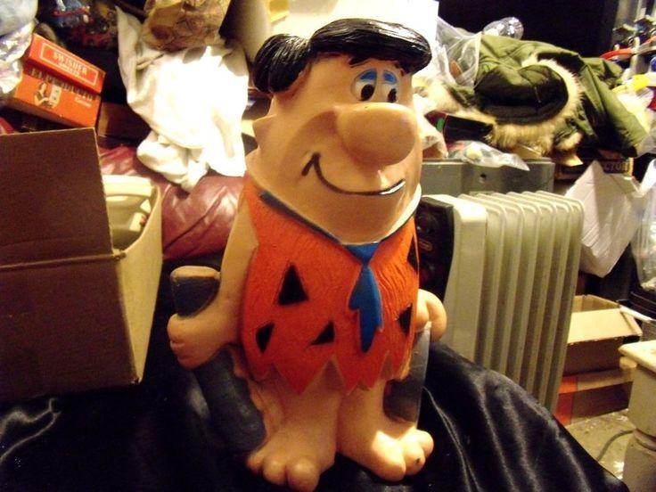 Vintage Fred Flintstone Plastic Bank Club Rock    eBay
