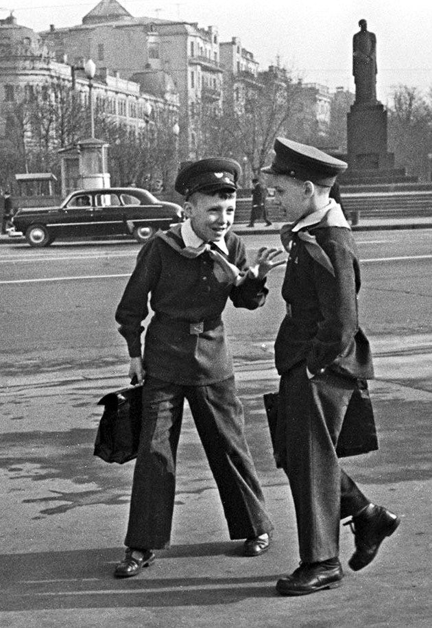 "Russian school uniform. ""Moscow Schoolboys"" – photograph by Mikhail Ozersky. Circa 1960 – 1963. #education"
