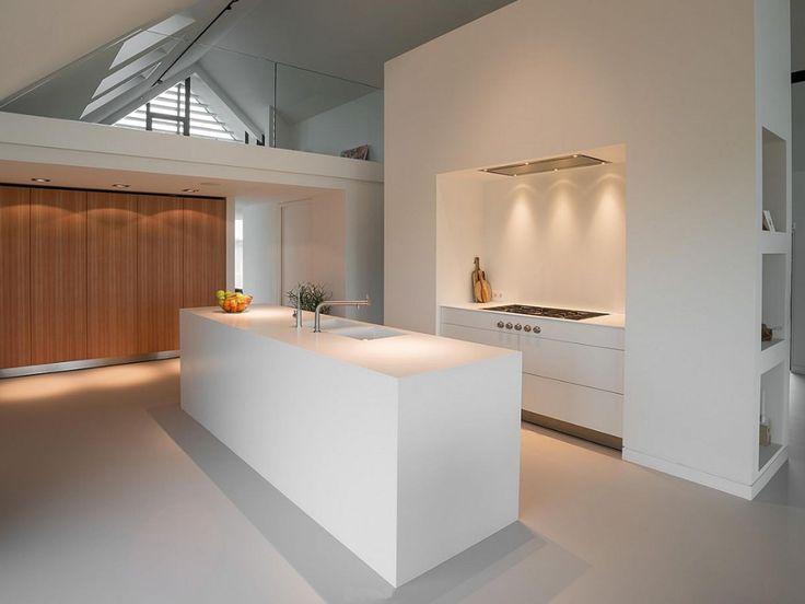1000 idee n over moderne witte keukens op pinterest witte hoogglans keuken moderne keukens - Witte keukens ...