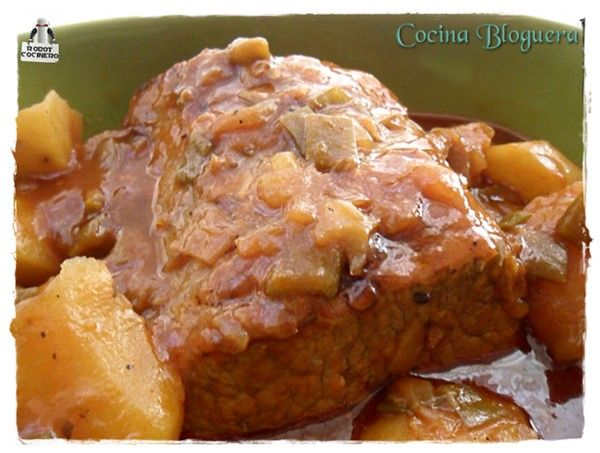 Cinta de Lomo en Salsa (Olla GM) | Cocina Bloguera | Lo que sale de mi Humilde Cocina Bloguera. Recetas en Olla GM. #BlogsLianxio