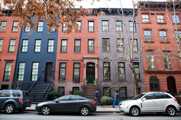 Greek Revival townhouses in Chelsea, Manhattan