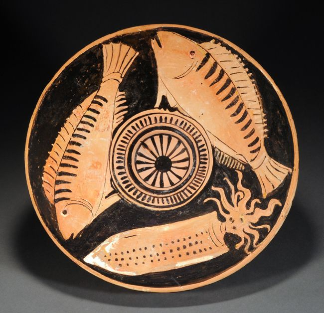 Apulian Red Figure Fish Plate By The Black And White