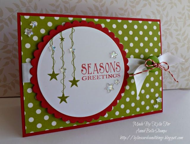 Kylie's Cards and Things: AnnaBelle Stamps 'Say It With...Christmas'