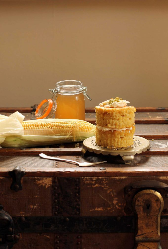 Sweet Corn and Coconut Mini Cakes with Corn Cob Jelly | Veggie Desserts >>>> Turn corn cobs into corn cob jelly – perfect in these corn and coconut mini cakes! It's so easy to make the jelly and it tastes like honey. >>>> veggiedesserts.co.uk