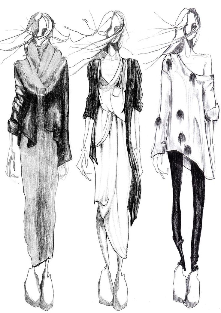 monochrome fashion illustration // Sophie MacKay
