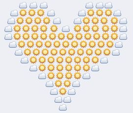 Big sunshiny heart