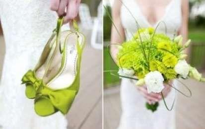 Il matrimonio in verde acido - Matrimonio in verde bouquet
