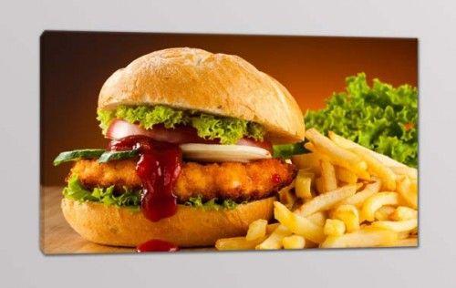 quadro moderno panino fast food