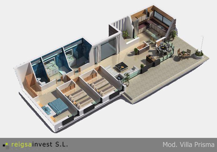 """Villa Prisma"""" uan vivienda de estilo moderno, con magnificas ..."""