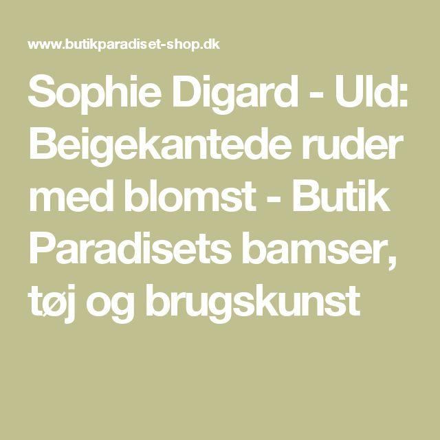 Sophie Digard - Uld: Beigekantede ruder med blomst  - Butik Paradisets bamser, tøj og brugskunst