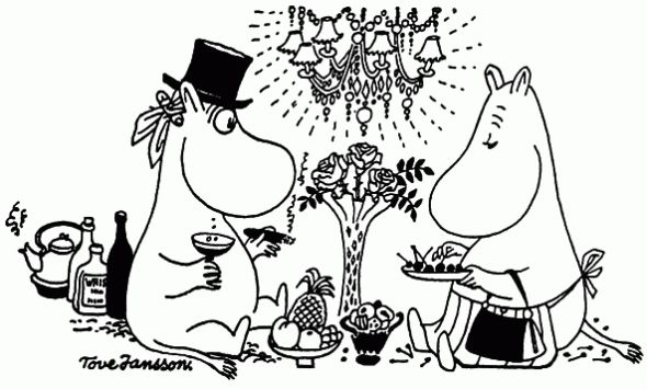 Time to enjoy Moominmamma's cookings