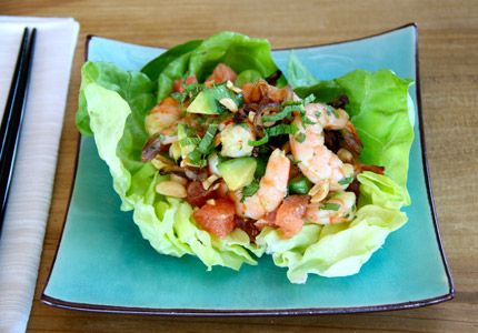 Shrimp Salad with Grapefruit, Mint and Caramelized Shallots. Recipe ...