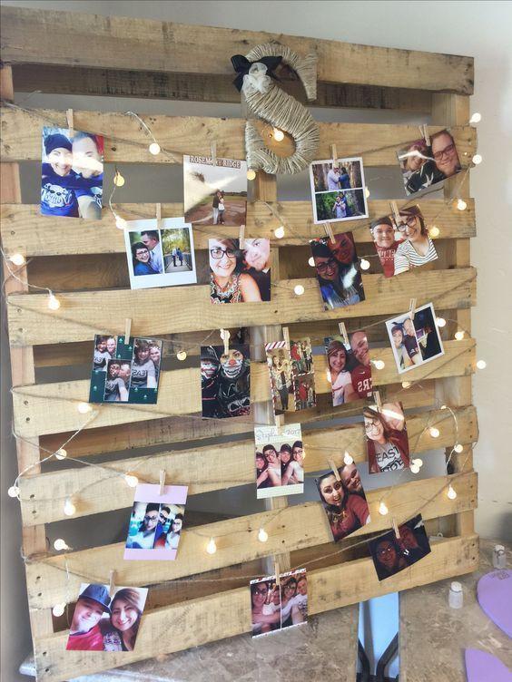 DIY Photo Display Board for graduation # graduation party #board #display #ph
