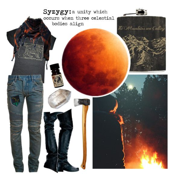 The Blood Moon is Coming by wildstars on Polyvore featuring Balmain and Ellie Shoes