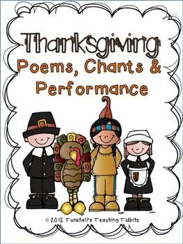 Thanksgiving Poems Chants and Performance--FREEBIE from Tunstall's Tidbits!
