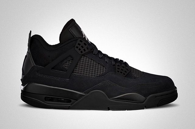 AIR JORDAN 4 (BLACK CAT) - the 'Black Cat' is back. Slated for a 2014 return in all of its blacked out goodness