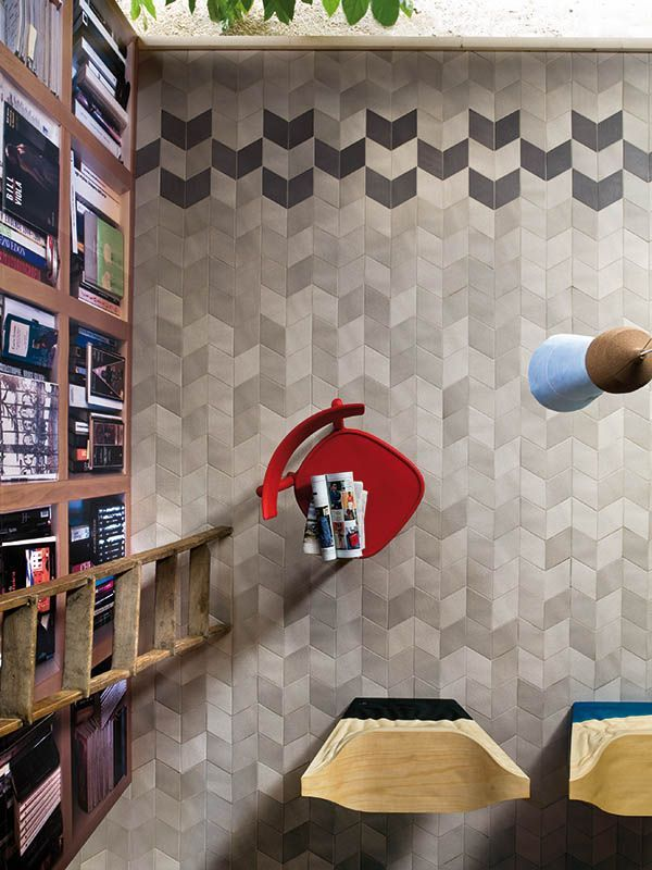 TEX ALTA-10 Stone Source Rhombus shaped tiles, tactile surface based on textile design. Gorgeous color/texture variation