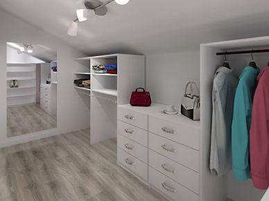 Przestronna garderoba przy pokoju nastolatki (49286)