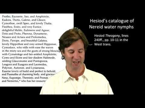 Intro to Hesiod - Lecture by Peter Struck. Subjects: Greek epic poetry, Greek mythology, comparison of Hesiod & Homer.  Length: 15:00