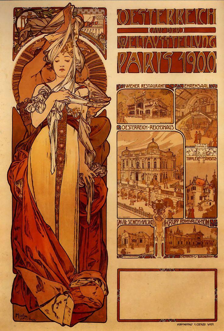 Austria at the World Exhibition in Paris 1900 - Alphonse Mucha