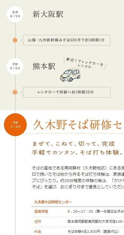 熊本1泊2日の旅|話そう、でっかい九州で。 おすすめモデルコース|話そう、でっかい九州で スペシャルサイト:JRおでかけネット    (via http://sanyo-kyushu.jp/course01.html )