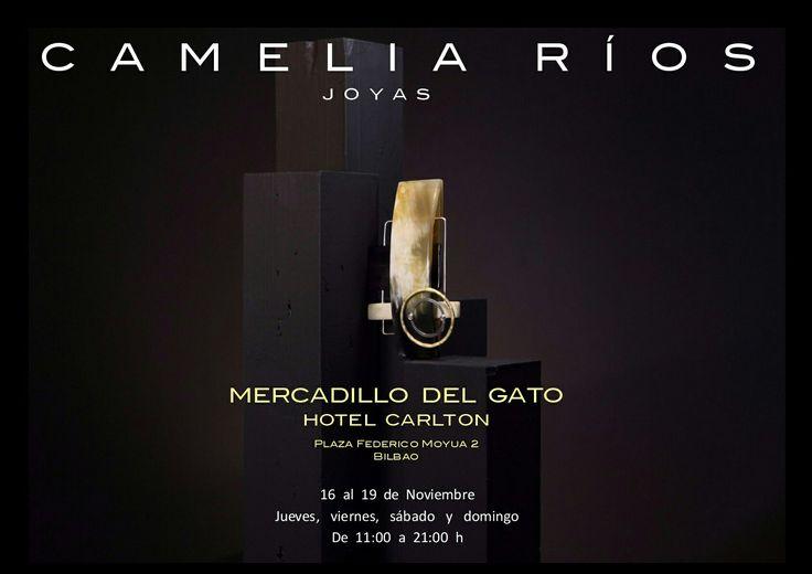 Hoy jueves 16 y hasta el domingo 19 estaremos en el MERCADILLO DEL GATO, en el Hotel Carlton de Bilbao, de 11 a 21 h, te esperamos...