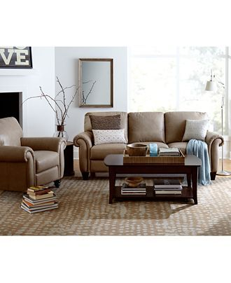 Arianna Leather Sofa Living Room Furniture Collection Furniture Macy 39 S New Moss House