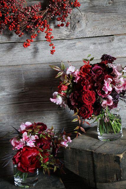 winter floral arrangement by Sarah Ryhanen  http://www.arcreactions.com/#social