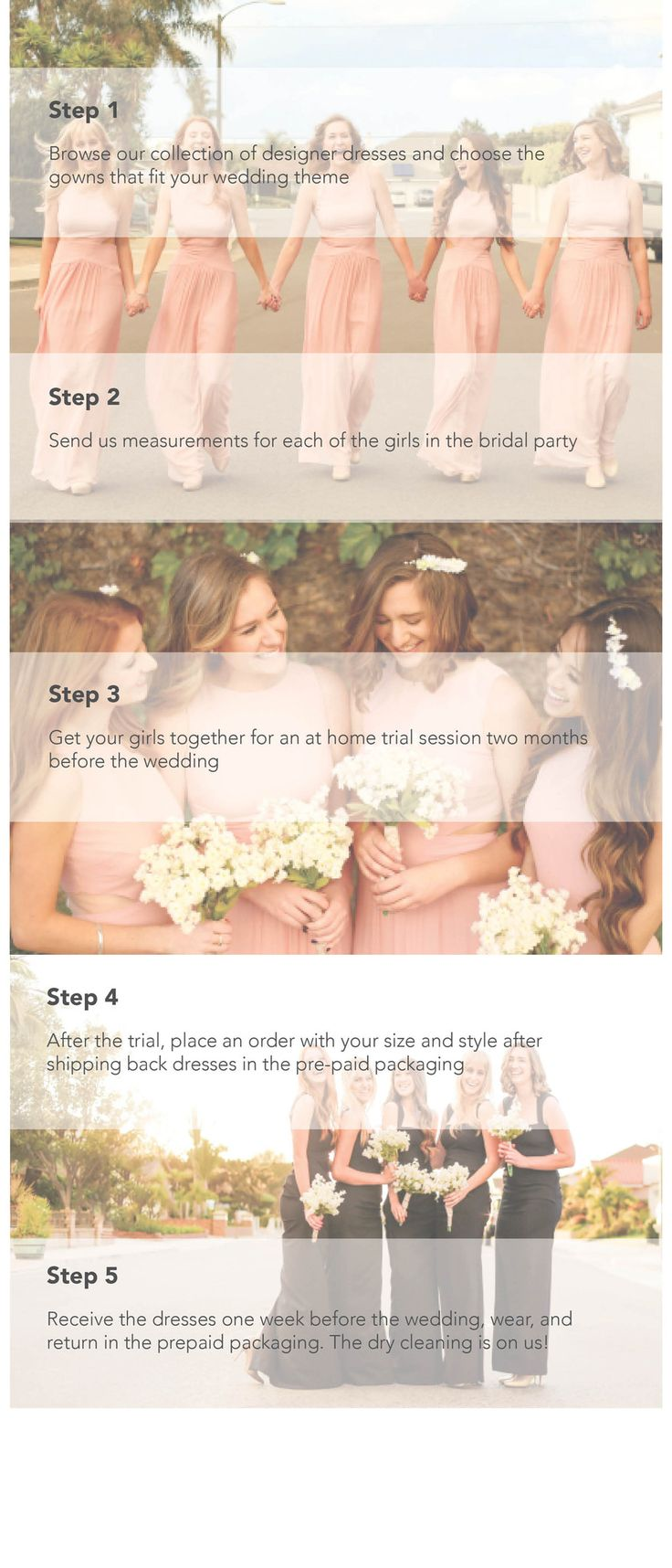 How it Works - Hera - Rental Bridesmaid Dresses ( Rental fee is waived when a dress rental order is placed)