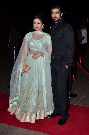 Huma Qureshi and Saqib Saleem at the reception