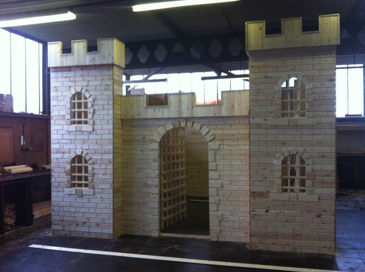 wooden castle playhouse, activity playhouse