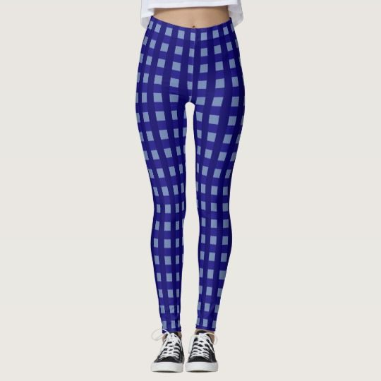 #Traditional #blue #chequered #pattern, #buffalo #plaid #leggings