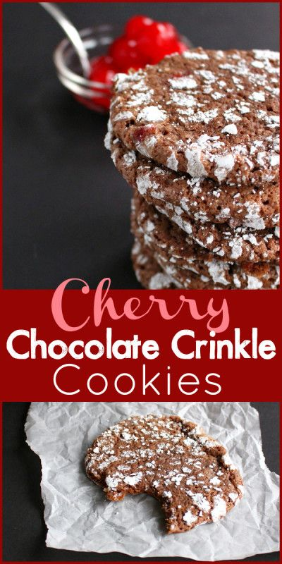 These Cherry Chocolate Crinkle Cookies are as delicious as they are beautiful!