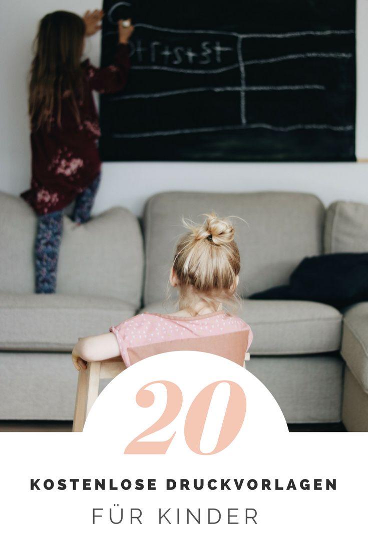 20 kostenlose Druckvorlagen zum Spielen, Lernen und Spaß haben. Spielideen für Kinder kostenlos ausdrucken. Schlechtwetterprogramm.