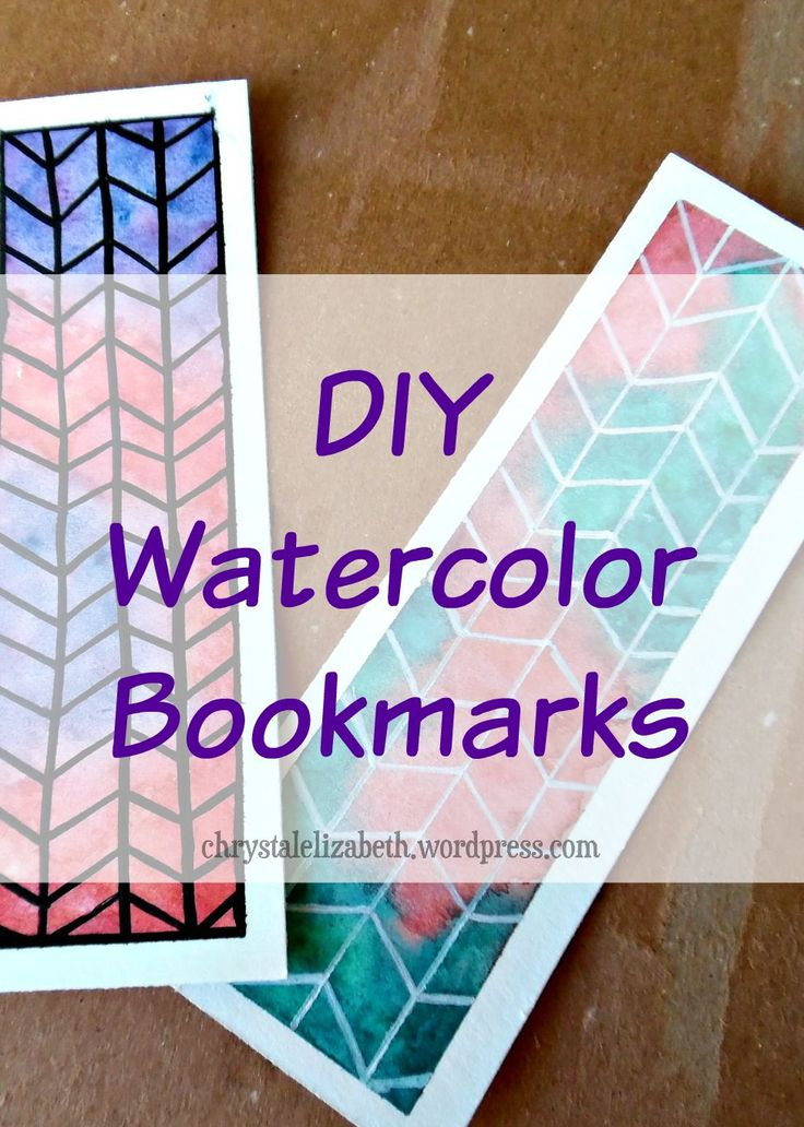 DIY Watercolor Bookmark | chrystalizabeth                                                                                                                                                                                 More