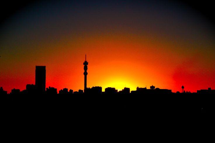 Sunset over Joburg