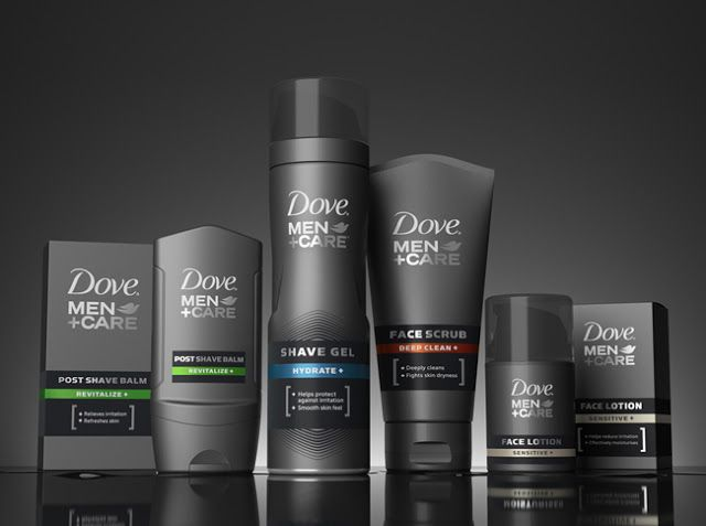 Dove Men + Care Face on Packaging of the World - Creative Package Design Gallery