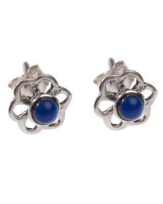 Brincos em Prata e Lápis Lazuli