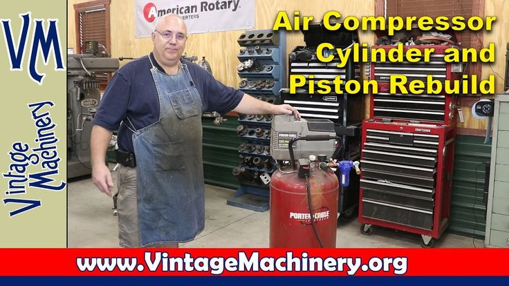 Porter Cable Air Compressor Cylinder and Piston Rebuild