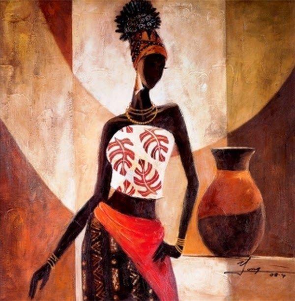 Dibujos tnicos africanos cuadros bodegones y paisajes - Ideas para pintar cuadros ...