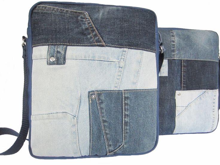 Jeans bag handmade Door Jolanda. Used jeans. www.doorjolanda.nl