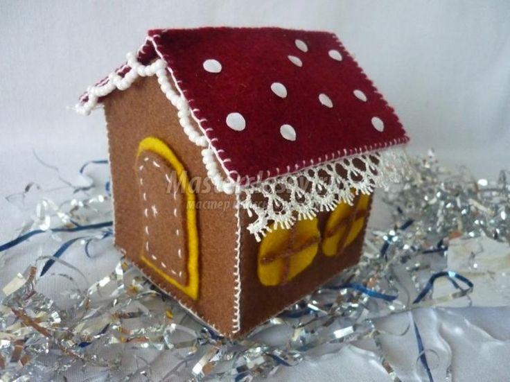 Декоративный домик из фетра своими руками. Мастер-класс с пошаговыми фото