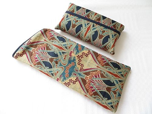Liberty Ianthe Tana Lawn Set of Glasses Case and Tissues Handmad