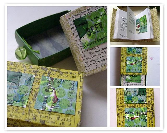 matchbox + mini book