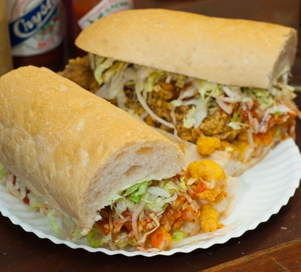 Domilise's shrimp oyster poboy, New Orleans --   Not a recipe...Poboys are pretty much my favorite food!