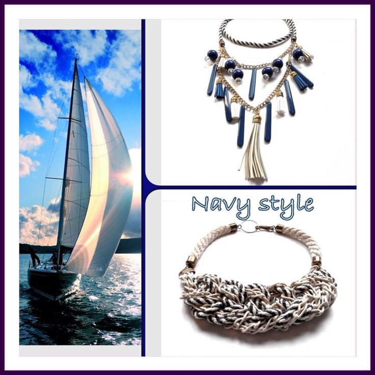 Navy style jewels for summer.