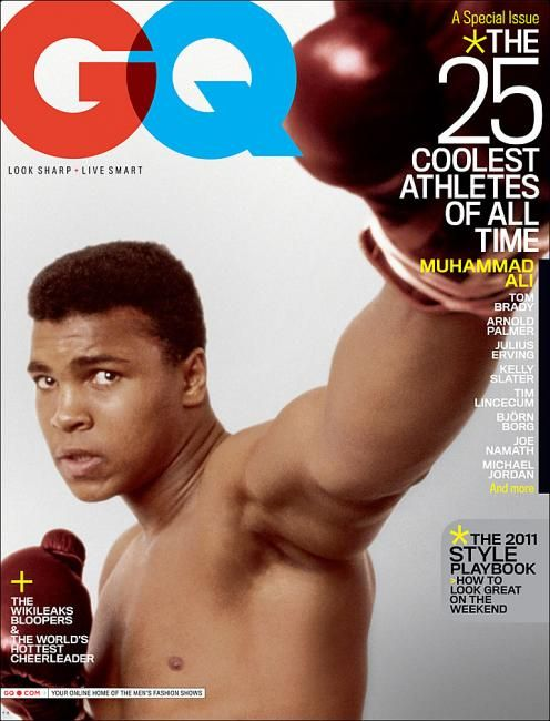 "Muhammad Ali. GOAT when it comes to 'cool athletes""."